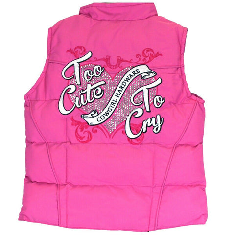 Cowgirl Hardware Infant/Toddler Pink Too Cute To Cry Vest 886081-150