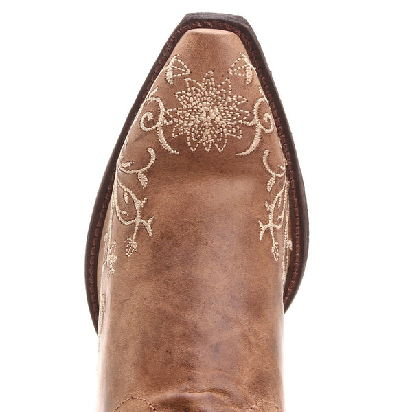 Laredo Ladies Brown Flower Embroidered Western Boot 52177 - Wild West Boot Store - 4
