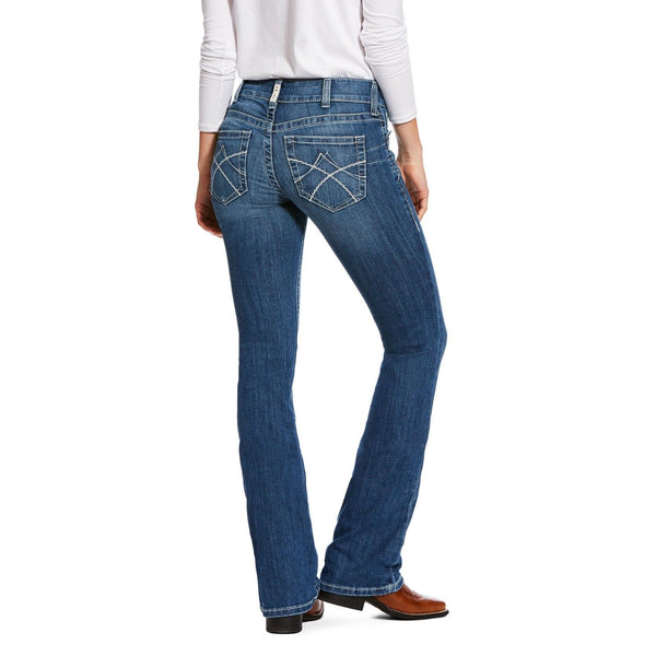Ariat® Ladies R.E.A.L Mid Rise Jasmine Stretch Boot Cut Jeans 10026023 - Wild West Boot Store