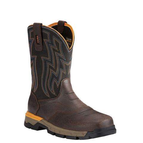 Ariat® Men's Rebar Flex Western Chocolate Composite Toe Boots 10021480 - Wild West Boot Store