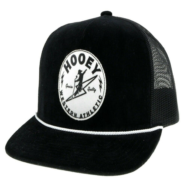 Hooey Buzz Black and White Snapback Cap 2031T-BK