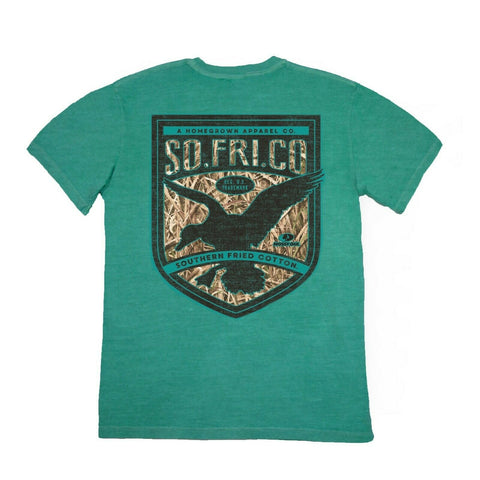 Southern Fried Cotton Hunting Fowl Seafoam T-shirt SFM11256