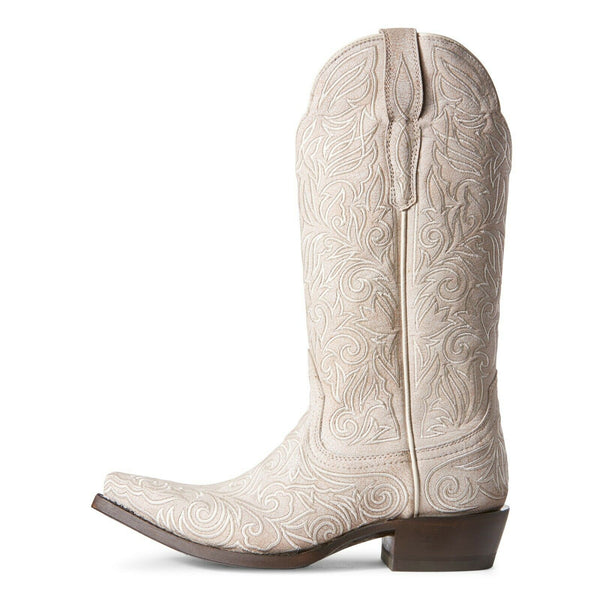 Ariat® Ladies Sterling Crackled White Embroidered Boots 10027236