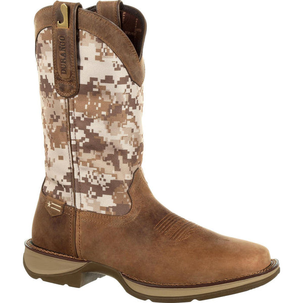 Durango Men's Rebel Desert Camo Dusty Brown Square Toe Boots DDB0166