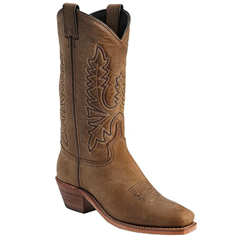 Abilene Ladies Oiled Cowhide Cowgirl Boot Square Toe 9011