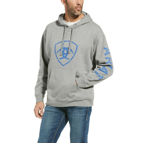 Ariat® Men's Classic Screen Print Logo Grey Hooded Jacket 10033544