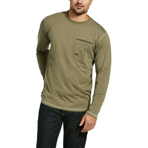 Ariat Men's Rebar Workman Camo Flag Sage Heather Work T-Shirt 10033072
