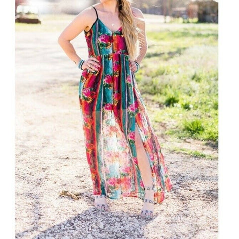Crazy Train Ladies Floral Falls Maxi Dress CTFM-FL