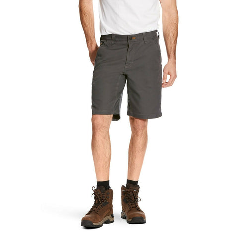 Ariat® Men's Rebar Stretch Grey Utility Shorts 10025989
