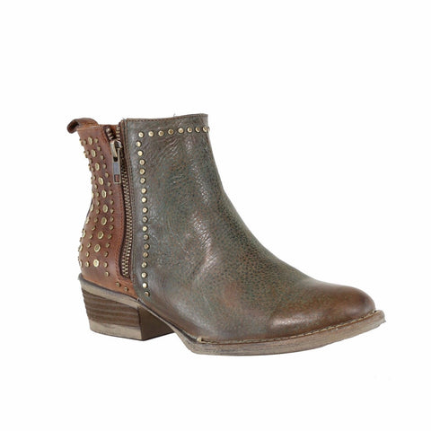 Circle G by Corral Ladies Green & Brown Stud Shortie Boots Q5011 - Wild West Boot Store