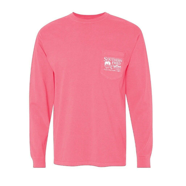 Southern Fried Cotton Mystic Mountain Pink Jam LS T- Shirts SFM31499
