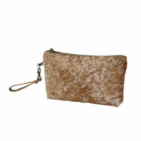 Myra Bag Light Brown Shaded Hairon Small Bag S-0786