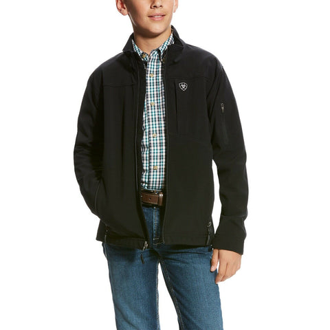Ariat® Boy's Vernon 2.0 Black Stretch Softshell Jacket 10024057