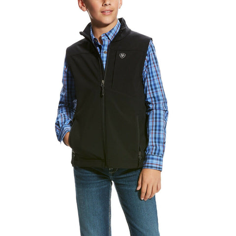 Ariat® Boy's Vernon 2.0 Black Stretch Softshell Vest 10024058