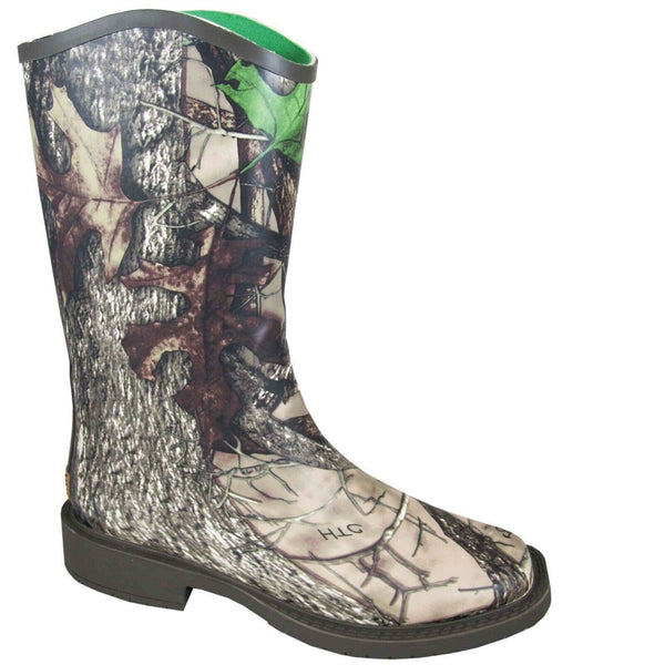 Smoky Mountain Ladies Brown Camo Square Toe Rubber Boots 6730