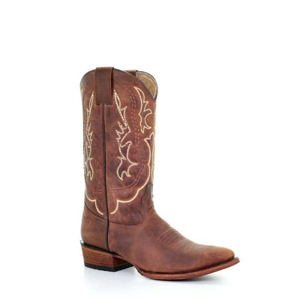 Circle G by Corral Men's Shedron Embroidered Round Toe Boots L5454