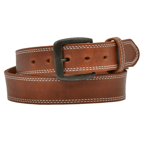 3D Belt Company Men's Brown Harness Double Stitch Belt D1137-BELT