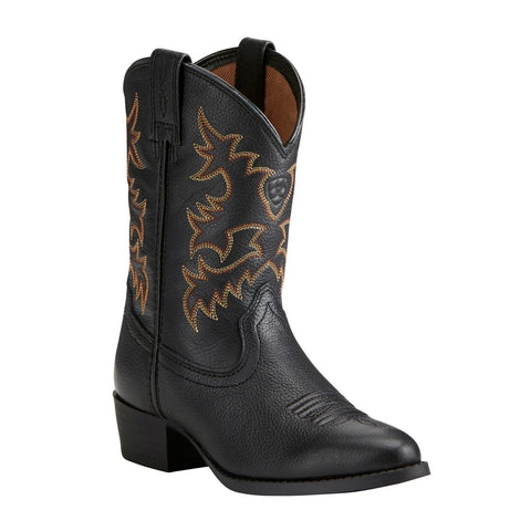 Ariat® Children's Black Heritage Western Boots 10021609 - Wild West Boot Store