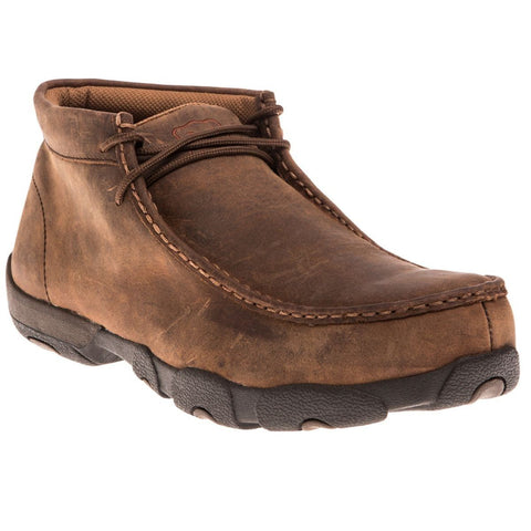 Twisted X Men's Peanut Brown Steel Toe Driving Mocs MDMSM01 - Wild West Boot Store