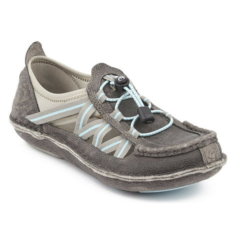 Tamarindo® Ladies Mangrove Pebble Grey Sky Blue Leather Shoes WTD0001