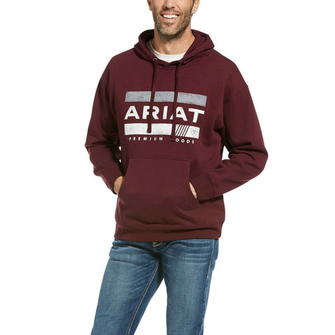 Ariat Men's Angle USA Screen Print Malbec Hoodie 10033560