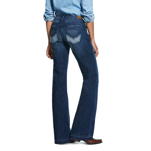 Ariat® Ladies Reverse Sparrow Mid Rise Wide Leg Trouser Jeans 10032125