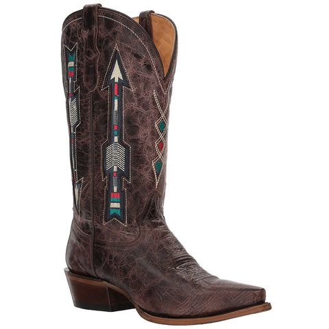 Roper Ladies Brown Embroidered Arrow Underlay Boots 09-021-8126-1426 - Wild West Boot Store