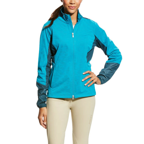 Ariat® Ladies Fury Softshell Full Zip Atomic Blue Jacket 10023789 - Wild West Boot Store