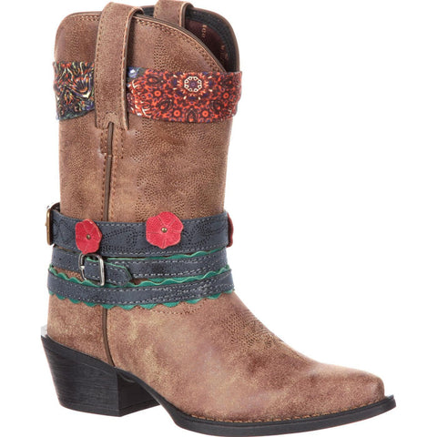 Durango Children's Brown Accessorize Western Boot DBT0170 - Wild West Boot Store - 1