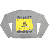 Southern Fried Cotton Don't Tread Granite LS T-shirt SFM30119