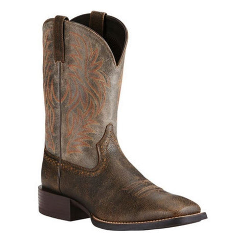 Ariat Men''s Sport Western Brooklyn Brown/Ashes Boot 10019958 - Wild West Boot Store - 1
