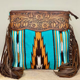 American Darling Teal Saddle Blanket Crossbody ADBGZ171G