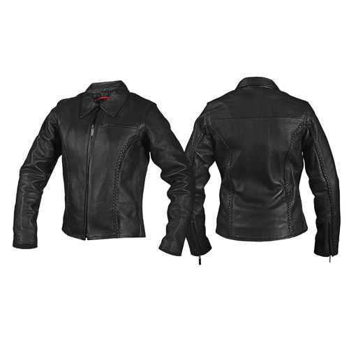 Milwaukee Motorcycle CC Women's Electra Black Leather Jacket M10067 - Wild West Boot Store