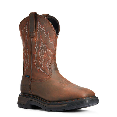 Ariat® Men's Big Rig H2O Distressed Brown Work Boots 10033991