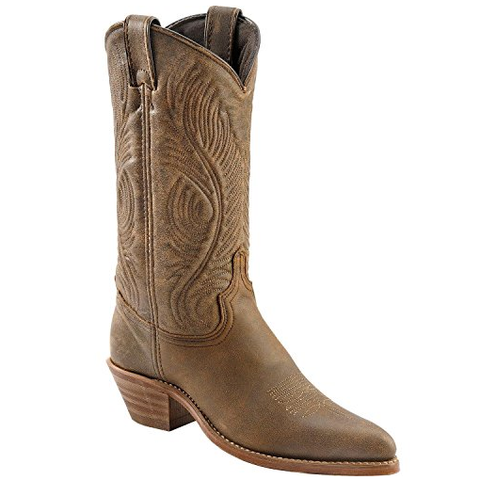 Abilene Ladies Distressed Cowhide Western Boots 9059