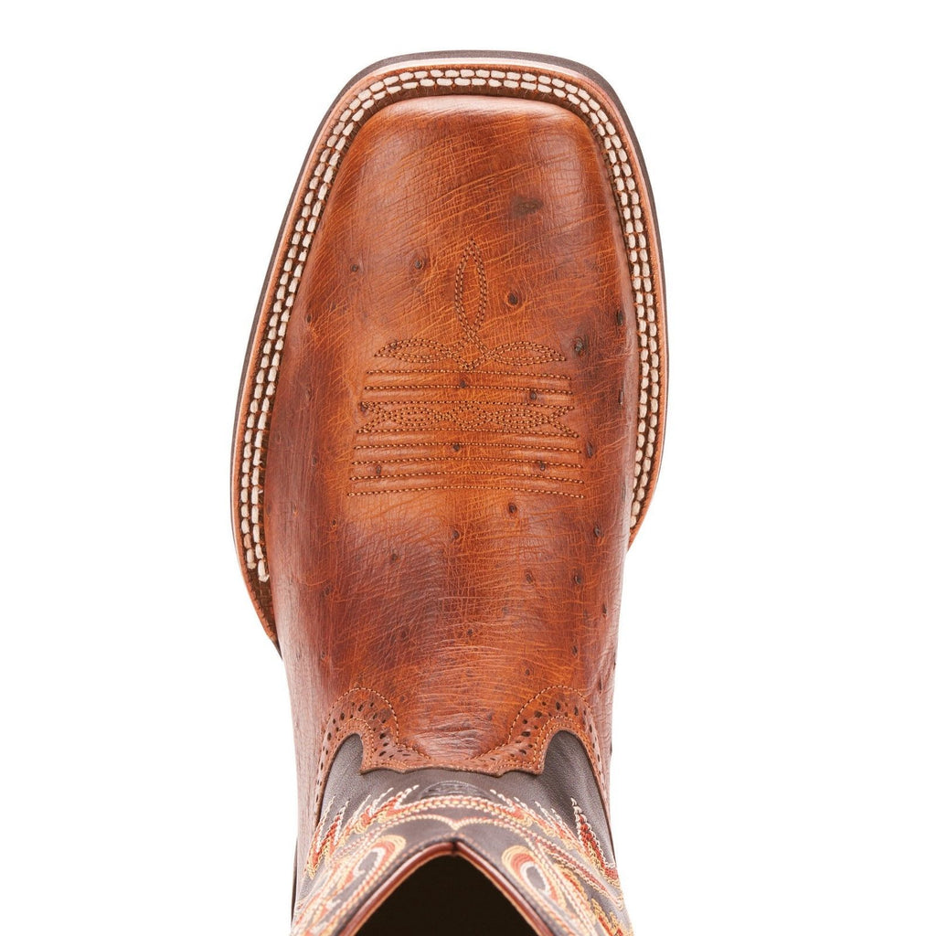56d887d43b3 Ariat® Men's Quickdraw Matte Brown Smooth Quill Ostrich Boots ...