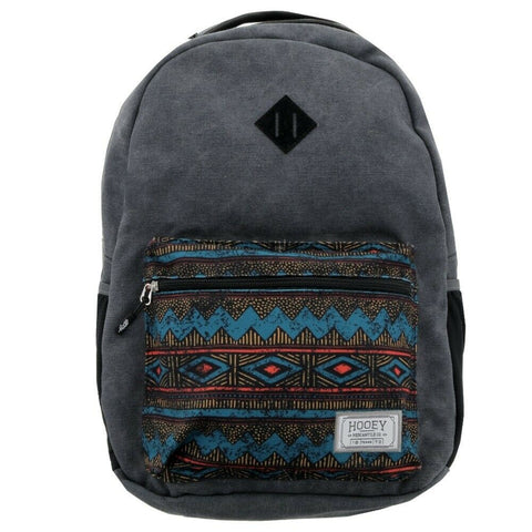 Hooey Grey With Aztec Print Recess Backpack Bag BP028CH