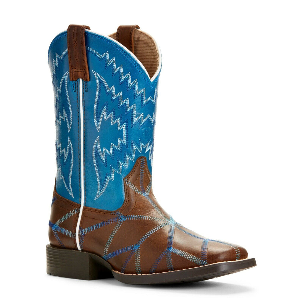 e9205753c7b Ariat Children's Twisted Tycoon Brown & Blue Western Boots 10027277 ...