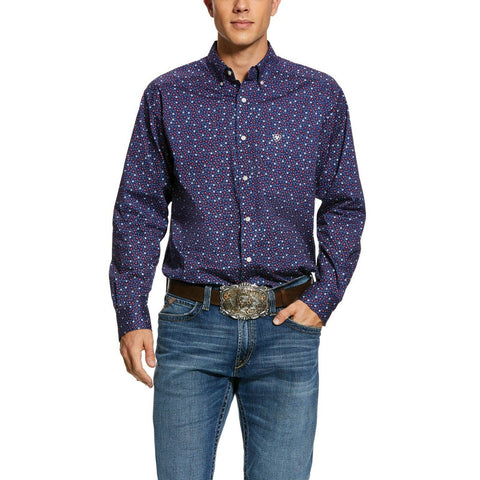 Ariat® Men's Casual Series Guilford Print Long Sleeve Shirt 10030593