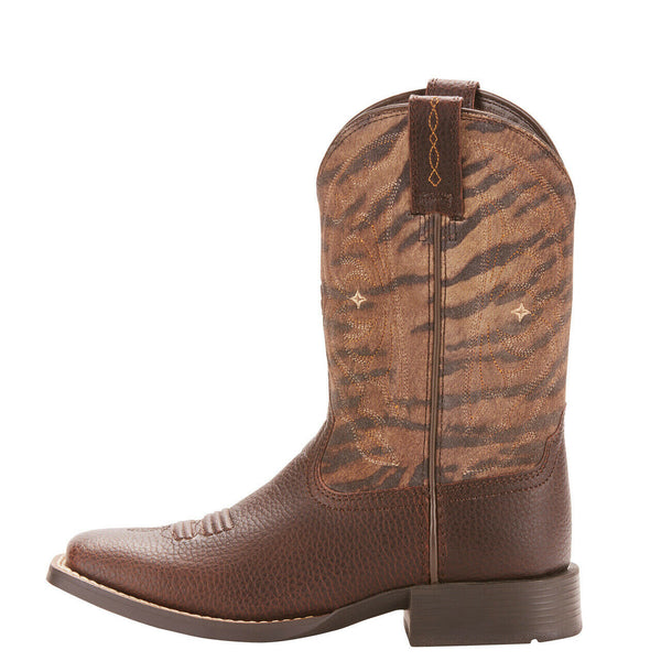 Ariat® Kid's Quickdraw Pebbled Pinecone Western Boots 10025181