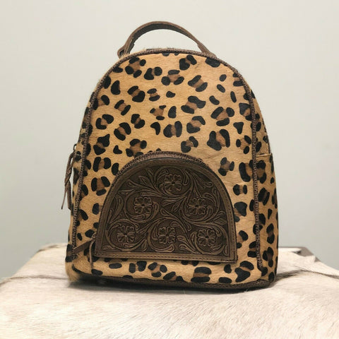American Darling Leopard Cowhide Backpack Purse ADBGS156