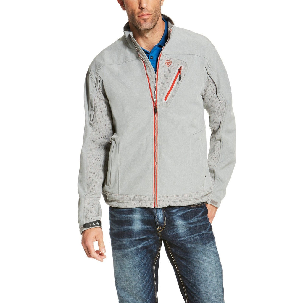 3d17c159fcc Ariat® Men's Forge Softshell Heather Gray Jacket 10020481 - Wild West Boot  Store