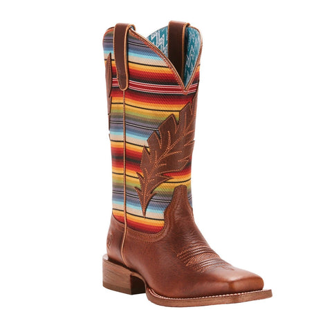 Ariat® Ladies Circuit Feather Autumn Tan Serape Print Boots 10025050 - Wild West Boot Store