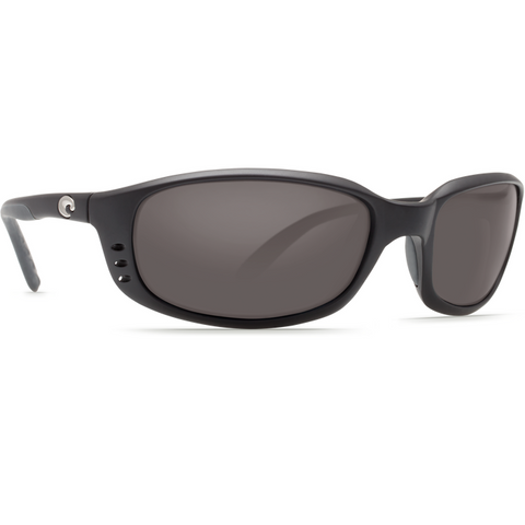 Costa Brine Black Frame with Gray Lens Sunglasses BR-11-OGGLP