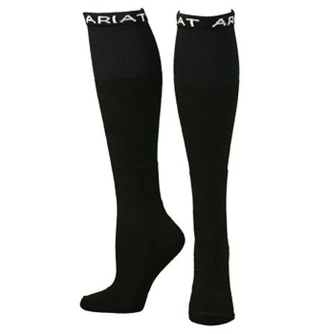 Ariat Men's 2 Pack Over-The-Calf Black Boot Socks A2503001