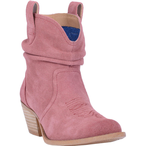 Dingo Ladies Jackpot Blush Leather Slouch Booties DI132