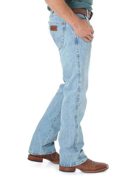 Wrangler Retro Light Blue Frost Slim Fit Boot Cut Jeans 77MWZBF