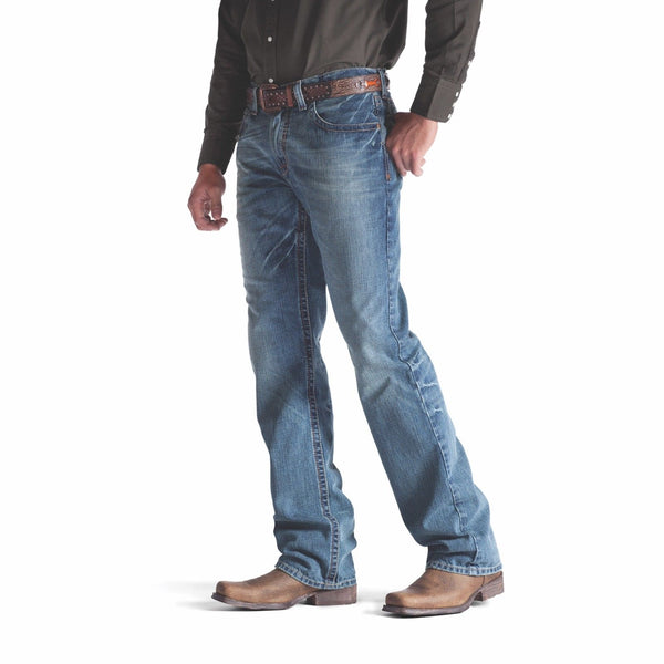 Ariat® Men's M4 Low Rise Relaxed Fit Scoundrel Boot Cut Jeans 10008403 - Wild West Boot Store