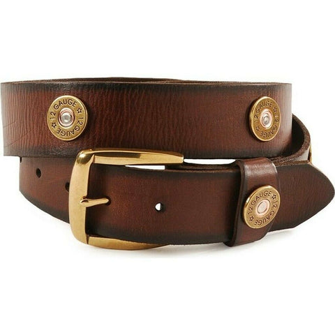 Nocona Men's Shotgun Shell Accent Brown Leather Belt N2472002