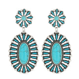 Montana Attitude Jewelry Boldly Blue Turquoise Earrings AER4534